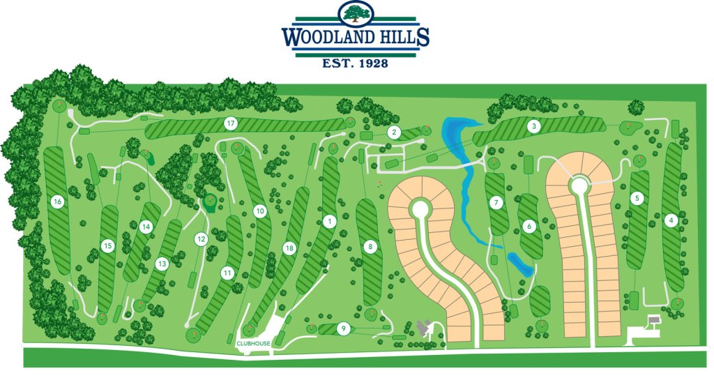 Woodland Hills Course Map